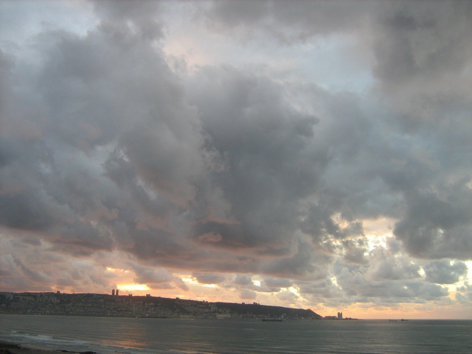 Winter Clouds over Haifa Bay, 2013